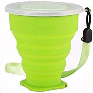 Copo Retrátil Dobrável De Silicone 200ml Verde: Amazon.com.br: Cozinha