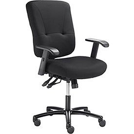 - Big & Tall Ergo Manager Chair, Fabric Upholstery, Black