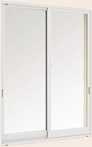 デュオPG 引き違い2枚建て 半外付型 18615 W:1,900mm × H:1,570mm ガラス種類:型4mm-A11-透明3mm 製品色:ナチュラルシルバー(D) アングル:付 LIXIL リクシル TOSTEM トステム