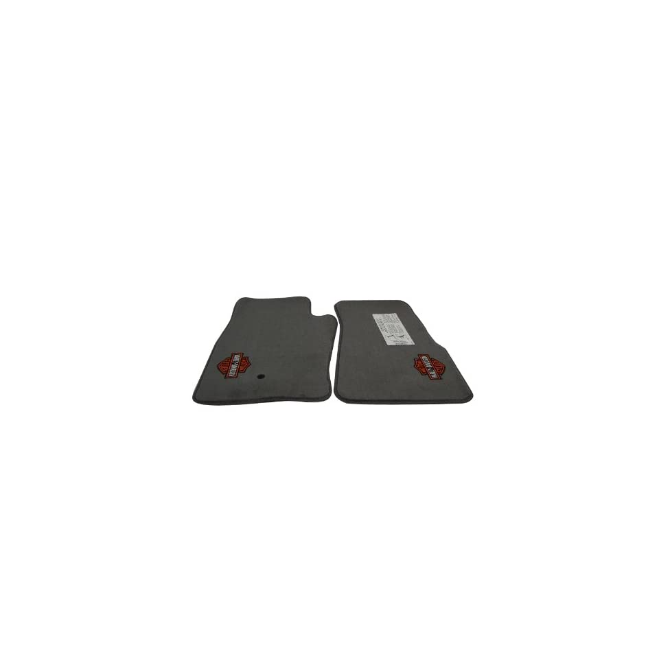 (GENUINE PRODUCT) 1993 2000 NEW OEM FORD RANGER PICKUP HARLEY DAVIDSON LOGO TWO FRONT FLOOR MATS MED. DARK GRAPHITE SET (Driver Side and Passenger Side)