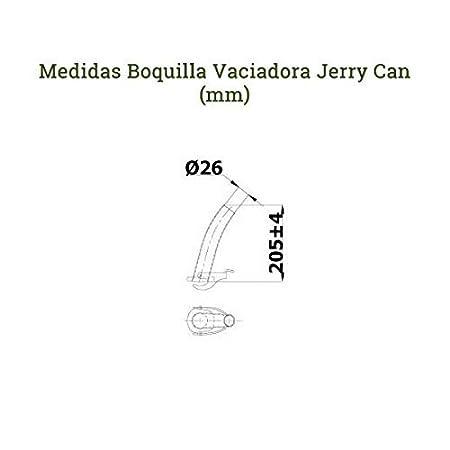 Amazon.es: SPP JC20VVMSCORR - JERRY CAN/BIDON METALICO - HOMOLOGADO PARA COMBUSTIBLE 20L VERDE + VACIADOR CON FILTRO Y PUNTA DE GOMA FLEXIBLE +SOPORTE VERDE ...