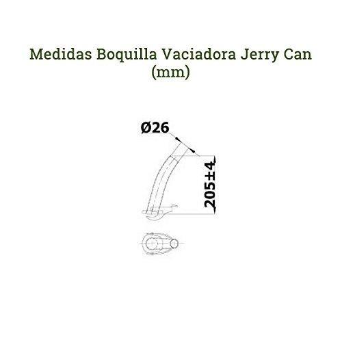 Amazon.es: JERRY CAN, BIDON METALICO 05L Y BOQUILLA VACIADOR VERDE MILITAR CON FILTRO Y PUNTA DE GOMA FLEXIBLE -- HOMOLOGADO PARA EL TRANSPORTE DE GASOLINA ...
