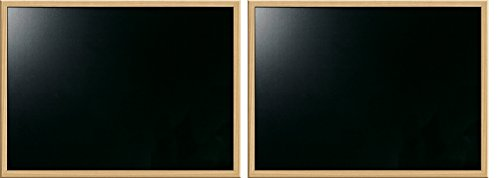 """Price comparison product image Board Dudes 17"""" x 23"""" Chalk Board with Oak Style Frame (CXM80) (Pack of 2)"""