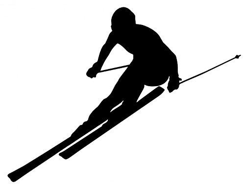 (Wallmonkeys WM139779 Skier Silhouette Wall Decal (18 in W x 14 in H))