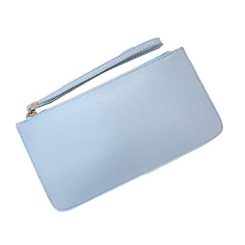 Abetteric Soft Wristlet Trifold Travel Slim Wallet