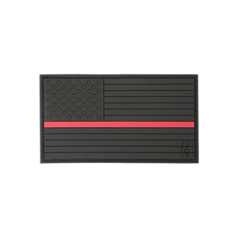 Maxpedition Gear Large USA Flag Patch, Firefighter Thin Red Line, 3.25 x 1.75-Inch