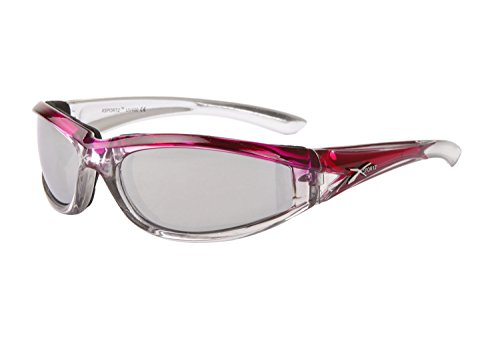 b0301a23916f Xsportz Hot Pink   Silver-Tone Padded Motorcycle Sunglasses. Mirror Lenses.  Women