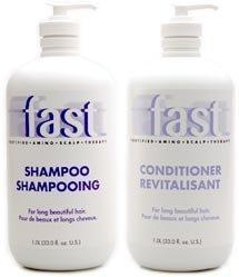 Nisim Fast Shampoo 1liter & Conditioner 1liter for Long Beautiful Hair by Nisim