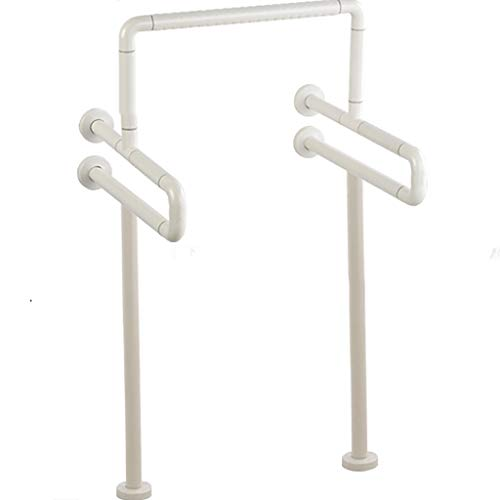 Antimicrobial Nylon Handrails Stainless Steel Skid Urina Elderly Disabled Accessible Toilet with Legs Wash Table ()