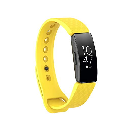 MChoice❤️for Fitbit Inspire/Inspire HR Silicone Bracelet Watch Band Wristband Strap Small (Yellow)