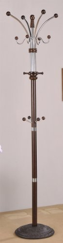 Coat Rack Hat Stand in Espresso Finish by Acme