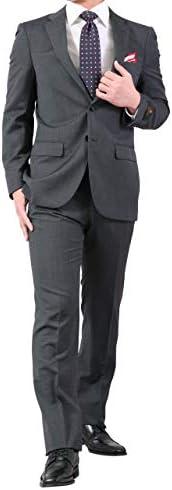春夏 イタリア製ウール生地 アンジェリコ ( ANGELICO ) 程よくスリム 2ツボタン スーツ ビジネス スーツ