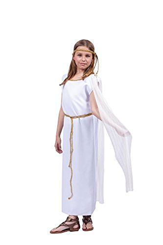 [Athena Child Costume,White, Large Size] (Athena Greek Goddess Costume Child)