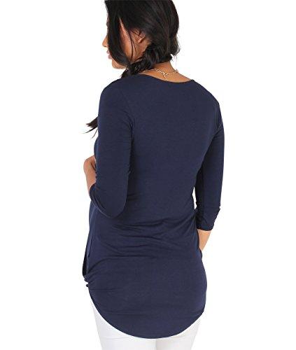 4 Krisp T Casual Shirt Donna 3 Maglia Vestibilit Incrocio Manica V Top Collo FFzrqx
