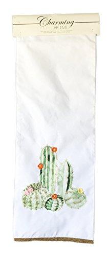 Table Cactus Desert (Charming Home Desert Cacti with Crochet Flower Accents Table Runner 13