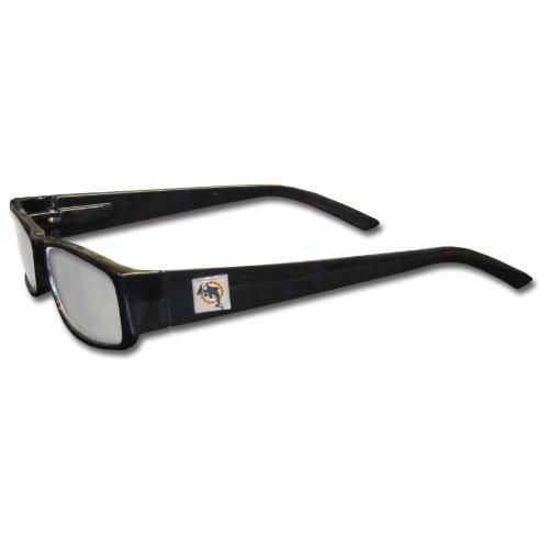NFL Black Reading Glasses (+2.00, Miami - Miami Glasses