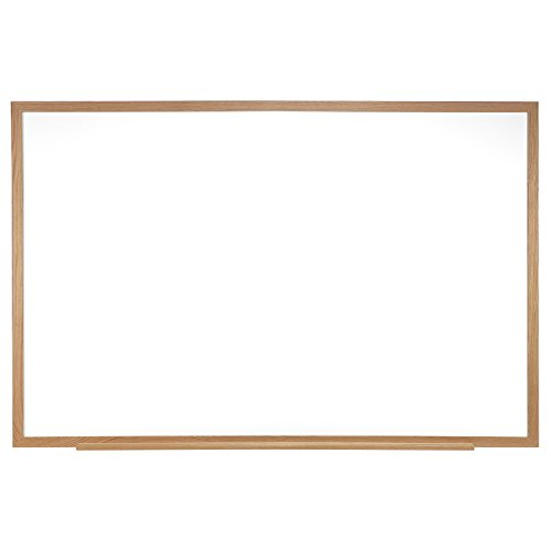 Ghent 4 x 6 Porcelain Magnetic Whiteboard, Wood Frame, 1 Marker, 1 Eraser, Made in the USA (M1W-46-4)