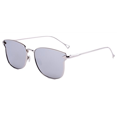 Simvey Vintage Designer Womens Color Mirror Revo Lens Cat Eye Sunglasses - 1860 Sunglasses