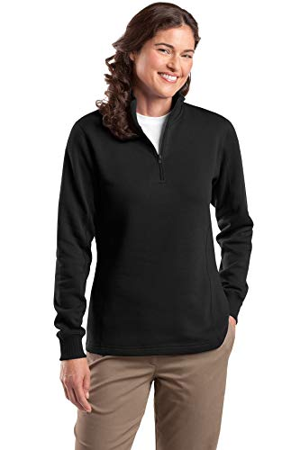 Sport-Tek Women's 1/4 Zip Sweatshirt M Black