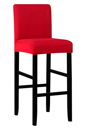 Seiyue Bar Stools Kitchen Furniture Breakfast Bar High Seat Chair Stool Cover (Only Cover,No Chair)(Red)