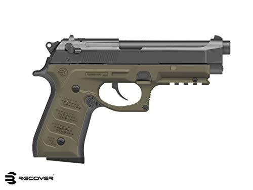 Recover Tactical BC2 Grip & Rail System for Beretta 92 M9 Series Pistol, Tan (Tactical Pistol Grip)