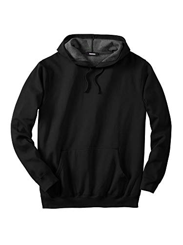 KingSize Men's Big & Tall Fleece Pullover Hoodie, Black ()