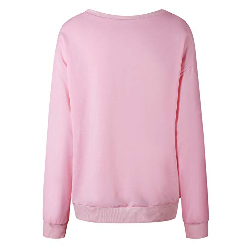 Blouse Shirt Patchwork Pink Hoodie Pullover Sweater Tops Sleeve Hooded Long Women's Jacket Crewneck Sweatshirt Coat Outwear x6WHv1