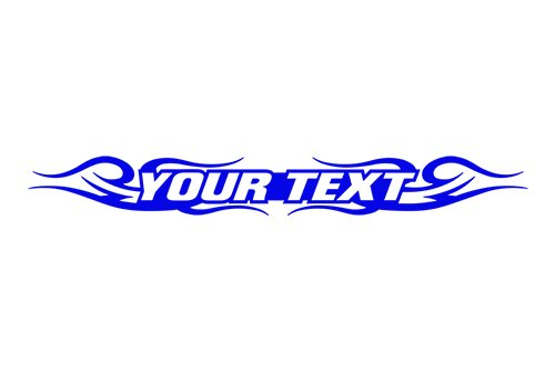 (Sticky Creations - Design #122 Your Custom Text Personalized Customized Lettering Tribal Swirl Windshield Decal Sticker Vinyl Graphic Rear Window Banner Car Truck SUV | 36
