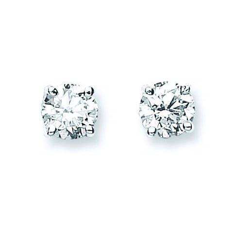 Jareeya-1,00CT Diamant Solitaire Boucles d'oreille à tige, Lot de en or blanc 18ct