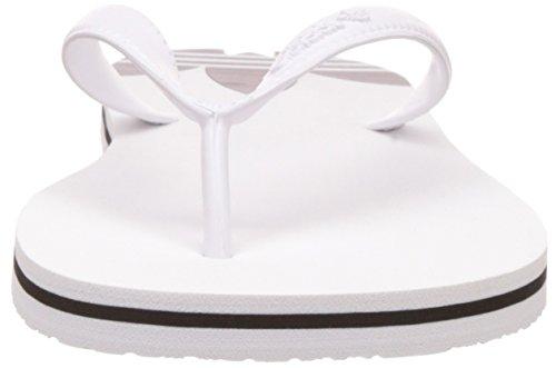 adidas Adisun, Damen Pantoletten, Elfenbein (Ftwr White/Ftwr White/Core Black), 46 EU/11 UK