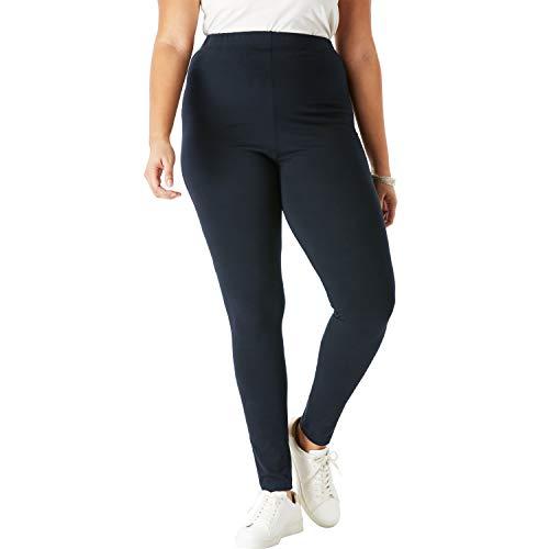 Roamans Women's Plus Size Essential Stretch Legging - Black, 2X