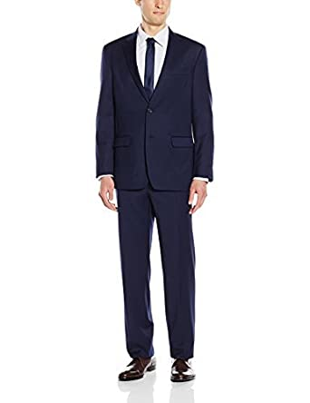 77ded2b5e4dd8e Tommy Hilfiger Men's Stretch Performance Solid Suit, Navy Crosshatch, 52  Regular: Amazon.in: Clothing & Accessories