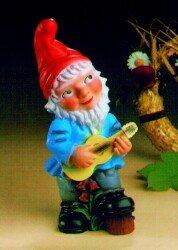 Nain avec une guitare, 33 cm, les nains de jardin, en plastique ...