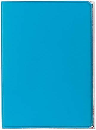 Porta carte di credito e tessere magnetiche 3 tasche 2 pezzi in PVC azzurro
