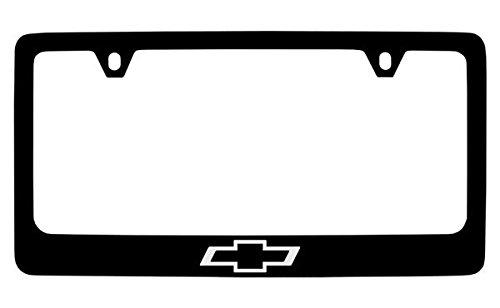 Chevrolet Bowtie Black Metal License Plate Frame Holder Chevrolet License Plate Frame
