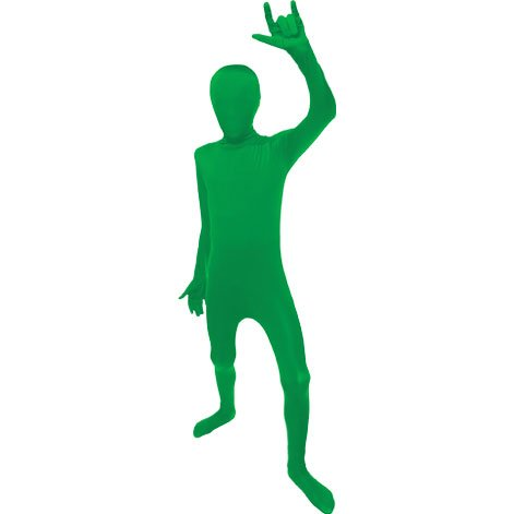 Morphsuits Green Original Kids Costume - size Large 4'-4'6 (120cm-137cm) ()