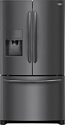 """Frigidaire FGHB2867TD Gallery Series 36"""" French Door Refrigerator with 27.1 cu. ft. Total Capacity, in Black Stainless Steel"""