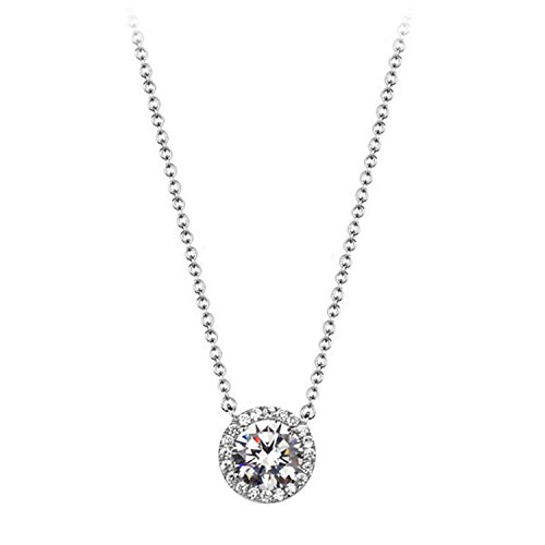 Exquisite Diamond Diamond Tear Round Pendant high-Grade Zircon necklace2]()