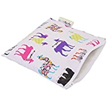Itzy Ritzy Happens Reusable Snack and Everything Bag, Llama Glama, Multi