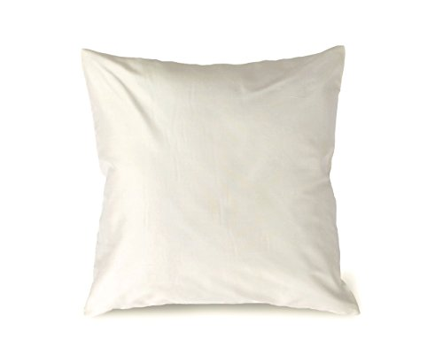 Craftbot Silk Throw Pillow Cover Off White 16x16 inch 2 Pieces 100% Pure Silk Dupioni 18 colors available