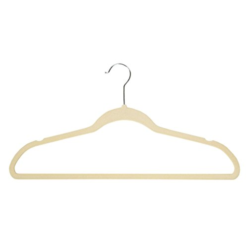 Richards Homewares SOFTGRIP set/25 Soft Grip Anti Slip, Space-Saving Suit Hangers, Ivory, Set of 25