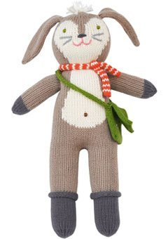 Blabla Pierre the Bunny Mini Plush Doll - Knit Stuffed Animal For Kids. Cute, Cuddly & Soft Cotton Toy. Perfect, Forever Cherished. Eco-Friendly. Certified Safe & Non-Toxic.
