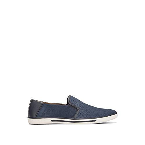 Kenneth Cole REACTION Men's Center Slip ON Sneaker, Navy, 9 M US