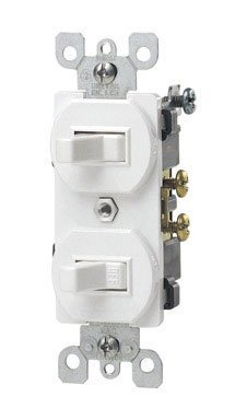 Leviton L22-5224-W Commercial Grade AC Quiet Duplex Combination Toggle Switch, White by Leviton price