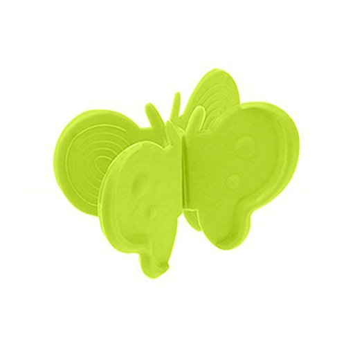 Heat Insulation Bowl Clamp - Convenient Butterfly Shaped Silicone Anti-scald Devices Kitchen Useful Tool 2pack (Green)