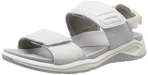 ECCO Women's X-Trinsic Sandal, White Leather, 37 M EU (6-6.5 US)