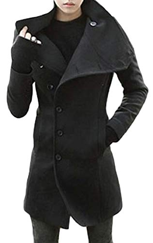 Jmwss QD Men's Winter Coat Single Breasted Wool Blend for sale  Delivered anywhere in USA