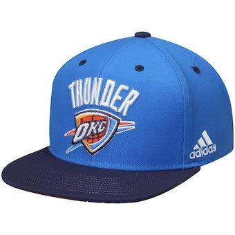 Amazon.com   adidas NBA unisex OKC thunders logo baby blue navy ... 317e7008148