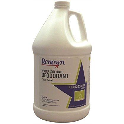 Renown Water Soluble Deodorant, Fresh Scent, Gallon, 4 Per Case-2490264 ()