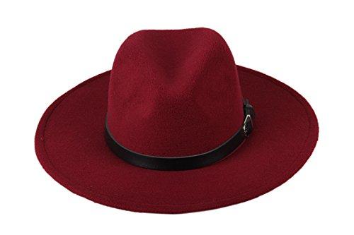 Dantiya-Womens-Wide-Brim-Wool-Fedora-Panama-Hat-with-Belt
